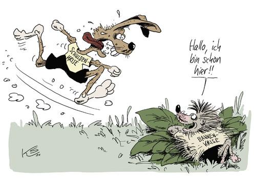 hase und igelstuttmann  politics cartoon  toonpool