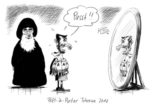 Cartoon: Passt! (medium) by Stuttmann tagged iran,teheran,ahmadinedschad,uran,atomkraft,atomwaffen,kernkraft