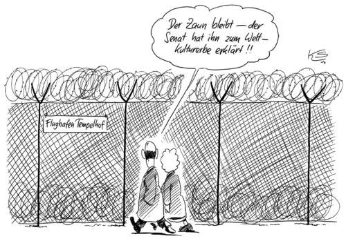 Zaun By Stuttmann Politics Cartoon Toonpool