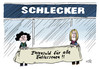 Cartoon: Schlecker (small) by Stuttmann tagged schlecker,insolvenz,entlassungen,ehrensold,wulff