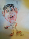 Cartoon: Caricature - I Am Boss (small) by remyfrancis tagged caricature,watercolours,practical,joke