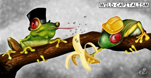 Cartoon: Wild Capitalism! (medium) by Toni DAgostinho tagged charge