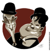 Cartoon: Laurel and Hardy (small) by Toni DAgostinho tagged laurel and hardy