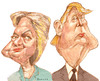 Cartoon: Clinton and Trump (small) by horate tagged usa