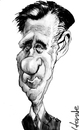 Cartoon: Mitt Romney (small) by horate tagged politic