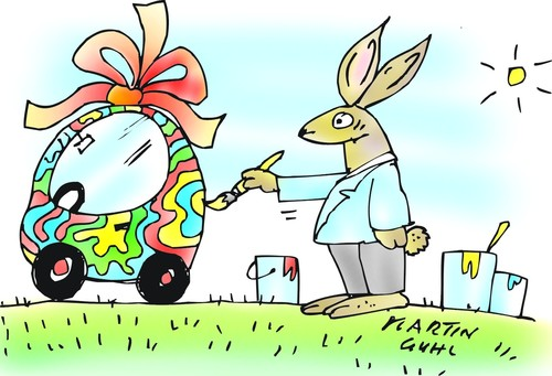 Auto ei ostern hase farbe malen by martin guhl for Hase malen
