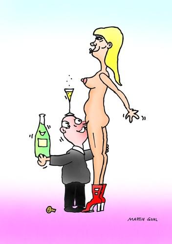 Cartoon Champagne Lady Sex Cartoon Medium By Martin Guhl Tagged Champagnelady