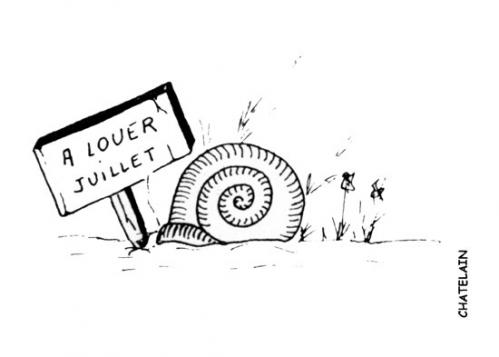 Cartoon: A LOUER JUILLET (medium) by chatelain tagged louer,juillet,ch,tis,patarsort,