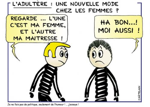 Cartoon: ADULTERE (medium) by chatelain tagged adultere
