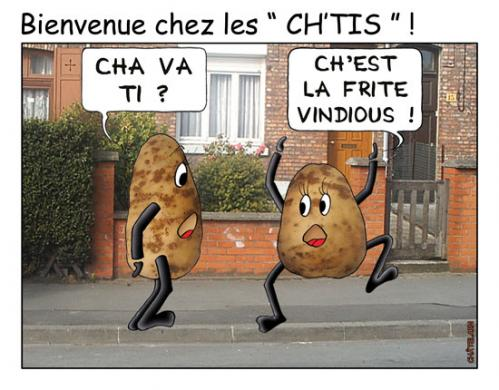 Cartoon: BIENVENUE CHEZ LES CH tis (medium) by chatelain tagged humour,ch,tis,