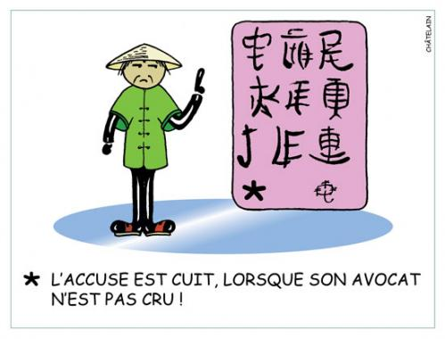 Cartoon: CHINOISERIE (medium) by chatelain tagged chinoiserie,humour,chatelain