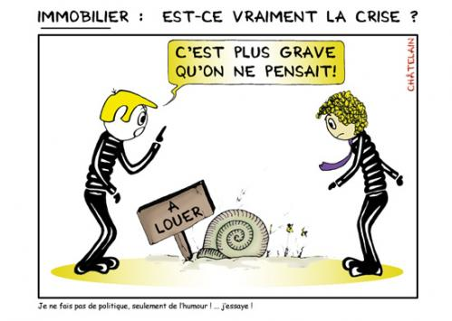 Cartoon: Crise du logement (medium) by chatelain tagged crise,logement