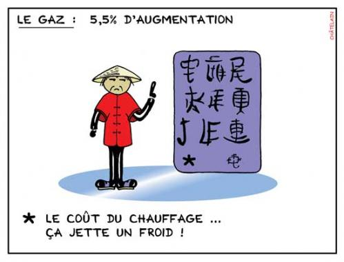 Cartoon: L eau dans le gaz (medium) by chatelain tagged humour,gaz,patarsort,