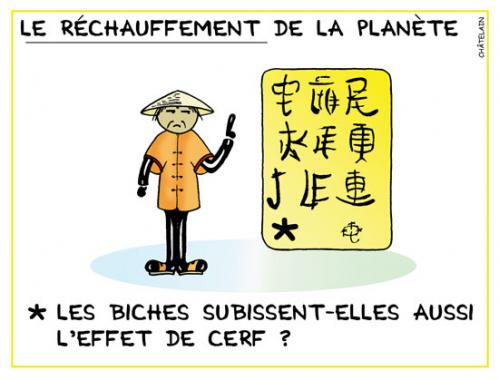 Cartoon: L effet de cerf (medium) by chatelain tagged humour