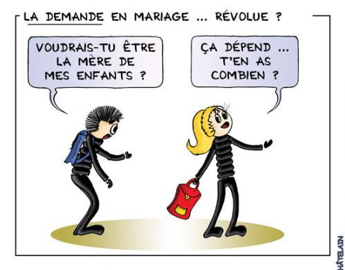 La demande en mariage by chatelain famous people cartoon toonpool - Felicitation mariage humour ...
