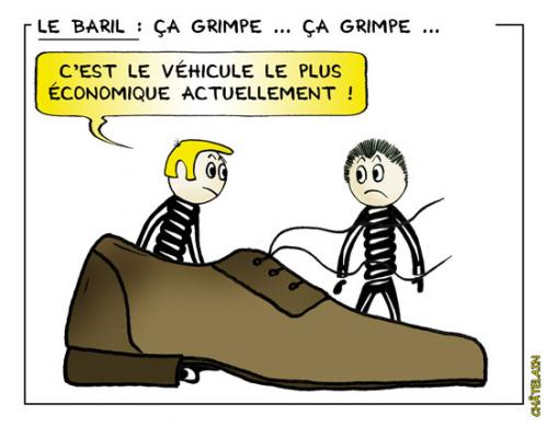 Cartoon: Le baril (medium) by chatelain tagged baril,humour