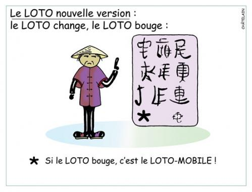 Cartoon: Le LOTO (medium) by chatelain tagged le,loto,humour