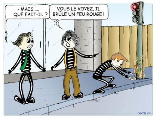 Cartoon: MAIS   QUE FAIT-IL (medium) by chatelain tagged humour,patarsort,feu,rouge,