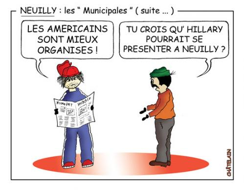 Cartoon: NEUILLY    SUITE (medium) by chatelain tagged humour,neuilly,municipales,