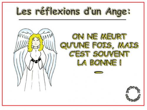 Cartoon: Reflexions d un Ange (medium) by chatelain tagged mort,ange,chatelain,patrick