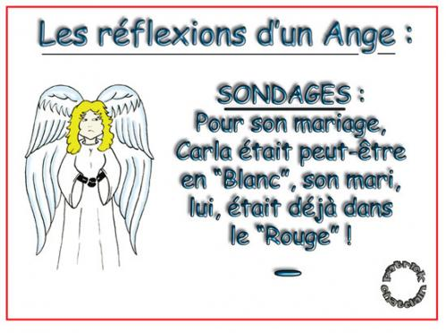 Cartoon: Reflexions d un Ange (medium) by chatelain tagged humour,ange,sondages,patarsort,