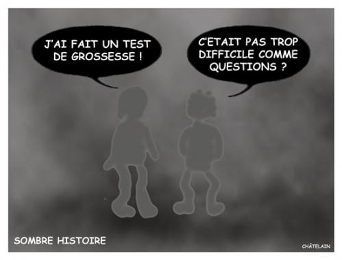 Cartoon: SOMBRE HISTOIRE (medium) by chatelain tagged sombre,histoire,patarsort,humour,blague,