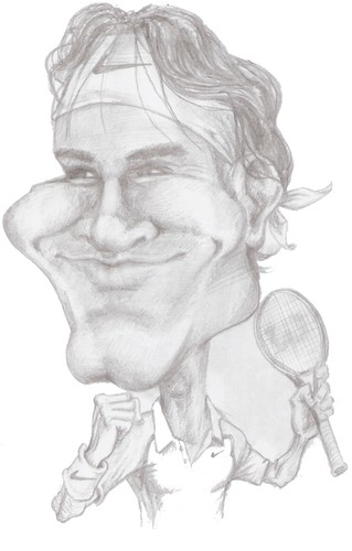 Cartoon: Roger Federer (medium) by Arley tagged tennis,tenis,roger,federer
