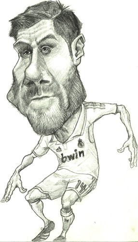Cartoon: Xabi Alonso (medium) by Arley tagged xabi,alonso,real,madrid,caricatura,caricature,futbol