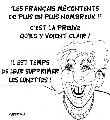 Cartoon: Logique Roselyne ! (medium) by CHRISTIAN tagged roselyne,bachelot,