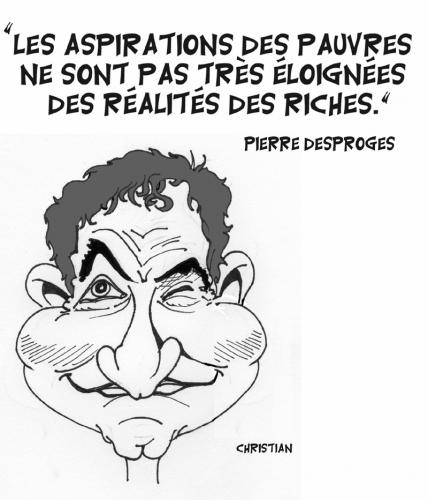 Cartoon: Pierre DESPROGES (medium) by CHRISTIAN tagged desproges,humour,