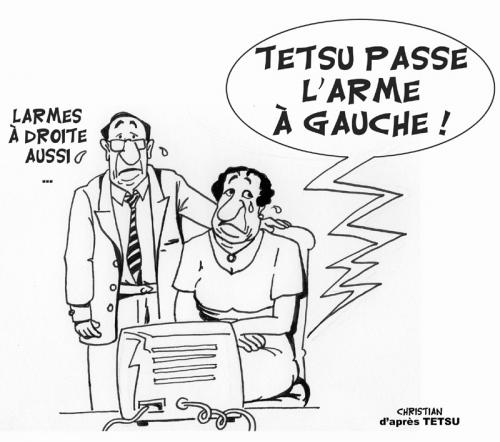 Cartoon: Tetsu ne dessinera plus ... (medium) by CHRISTIAN tagged tetsu,dessinateur,humour,