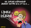 Cartoon: JE ME SUIS TOUJOURS DEMANDE ... (small) by CHRISTIAN tagged johnny,halliday