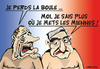 Cartoon: Les boules ! (small) by CHRISTIAN tagged chirac,strauss,hahn