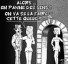 Cartoon: Penurie ... (small) by CHRISTIAN tagged essence,greves,carburant,panne,queue