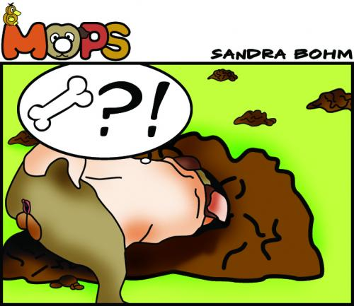 Cartoon: Mops (medium) by Sandra tagged mops,pets,dog,cat