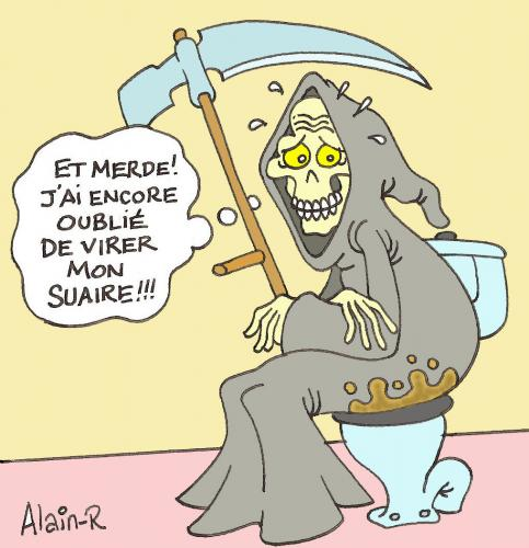 Cartoon: La fauchieuse... (medium) by Alain-R tagged death,faucheuse,humour