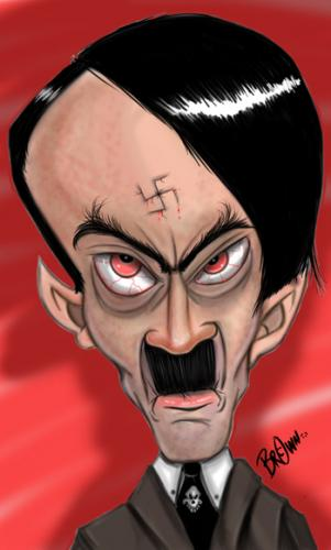 Cartoon: an evil man (medium) by tooned tagged cartoon,caricature,comic,hitler