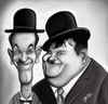 Cartoon: Laurel and Hardy (small) by tooned tagged cartoon caricature illustration