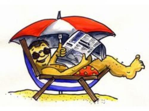 Sonnenschirm strand comic  Zeitung - Newspaper By Abonaut | Media & Culture Cartoon | TOONPOOL