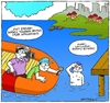 Cartoon: Bosphorus (small) by gultekinsavk tagged bosphorus,swim,sport,interview