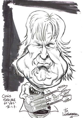 Cartoon: CHRIS SQUIRE (medium) by Tim Leatherbarrow tagged chrissquire,yes,progressiverock,bassplayer,bassguitarist,timleatherbarrow