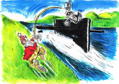 Le cuirassé le plus étrange de tous les temps (Novgorod, Popovka) Fly_fishing_for_submarines_2480145