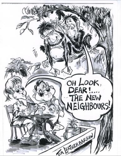 Cartoon the new neighbours medium by tim leatherbarrow tagged