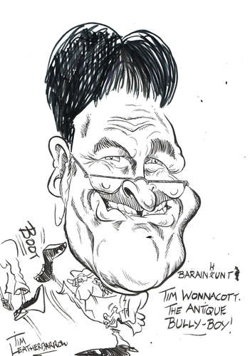 Cartoon: TIM WOLLACOTT (medium) by Tim Leatherbarrow tagged tomwalacott,antiques,bargainhunt,timleatherbarrow,televisionantiquepresenter