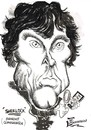 Cartoon: BENEDICT CUMERBACH (small) by Tim Leatherbarrow tagged sherlock,holmes,benedict,cumerbach,watson