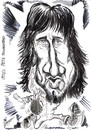 Cartoon: PETE TOWNSHEND-1970s (small) by Tim Leatherbarrow tagged pete,townshend,who