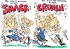 Cartoon: RUGBY WORLD CUP (small) by Tim Leatherbarrow tagged rugby,world,cup,england,scotland,national,anthem