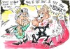 Cartoon: SIR BRUCIE OFF THE TELLY AT LAST (small) by Tim Leatherbarrow tagged bruce,forsythe,knighthood,queen,sword
