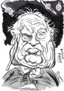 Cartoon: SIR PATRICK MOORE (small) by Tim Leatherbarrow tagged patrick,moore,astronomy,space,moon