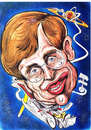 Cartoon: STEPHEN HAWKING (small) by Tim Leatherbarrow tagged stephenhawking,physics,blackholes,hawkingradiation